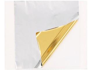 Поталь цветная золото/серебро в листах
