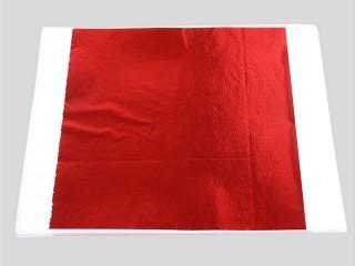Поталь цветная красная в листах