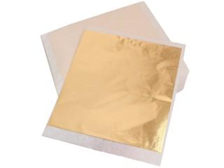 Поталь розовое золото в листах