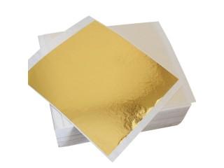 "Поталь тайваньское золото тип ""B"" в листах 14х14 см"