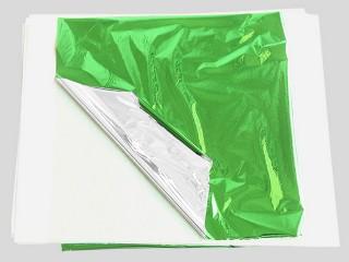 Поталь цветная зеленая в листах